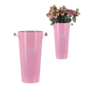 Ваза металлическая для цветов Pink