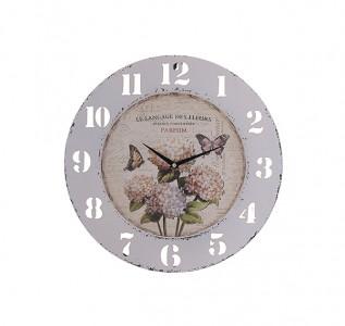 Часы металлические Цветы