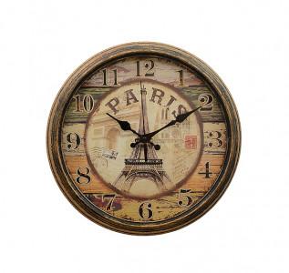 Часы настенные металлические Парижское время малые