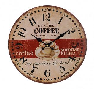 Часы настенные круглые Бодрящий кофе
