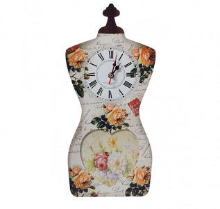 Фоторамка-часы Цветочный сад
