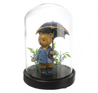 Статуэтка Мишка профессор под зонтиком