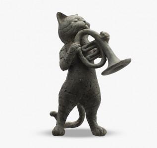 Статуэтка Кот с трубой