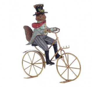 Статуэтка Лис на велосипеде