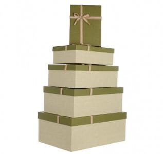 Набор подарочных коробок Летний сад (зеленые)