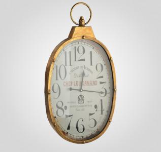 Часы настенные золотистые Chef Le Normand