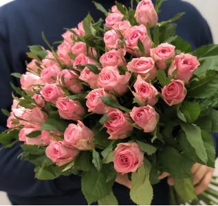 Букет из 35 розовых роз