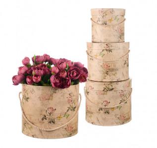 Набор подарочных коробок Песочная роза