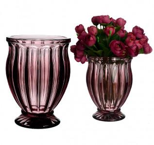 Ваза стеклянная Тюльпан винная