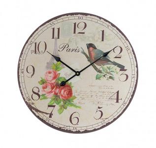 Часы настенные с птичкой