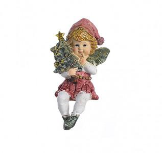 Статуэтка Фея с елкой сидящая