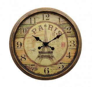Часы настенные металлические Парижское время большие
