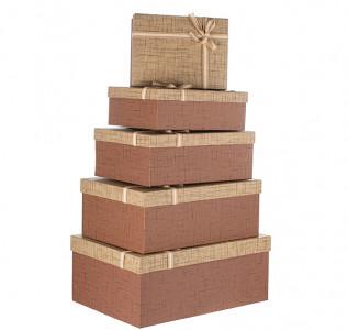 Набор подарочных коробок Сюрприз коричневый