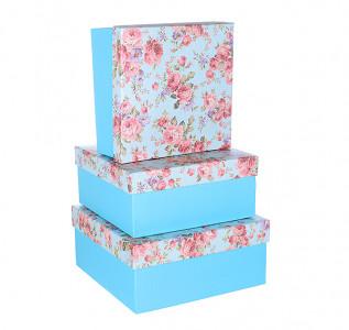 Набор подарочных коробок Бирюзовый пион
