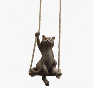 Статуэтка Кот на подвесных качелях