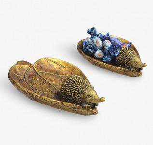 Статуэтка-бонбоньерка Ежонок на листике