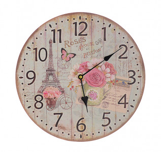 Часы настенные круглые Эйфелева башня
