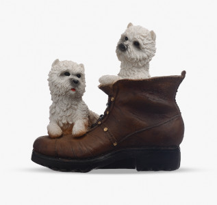 Статуэтка Собачки на ботинке