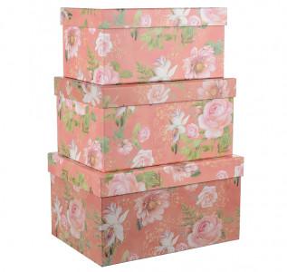 Набор подарочных коробок Розовые цветы