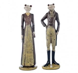 Статуэтка Лягушата дама с кавалером