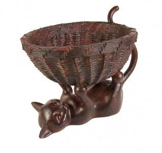 Статуэтка Кошка с корзинкой