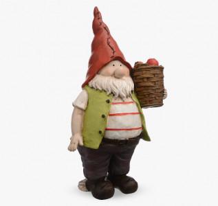 Статуэтка Гном Грор с клубничными дарами