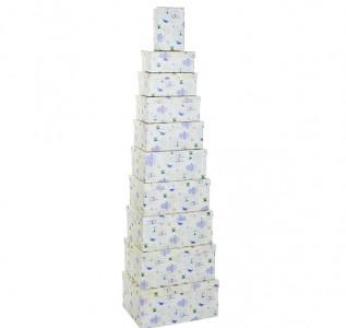 Набор подарочных коробок Синяя бабочка L