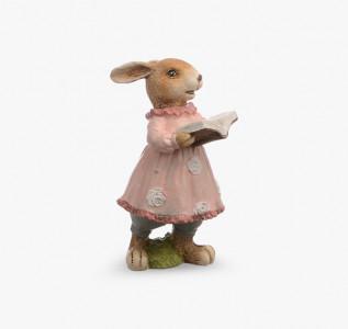 Статуэтка Кролик-девочка читающая