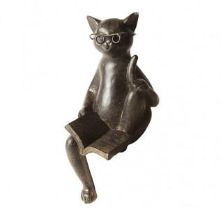 Статуэтка Читающий кот сидит
