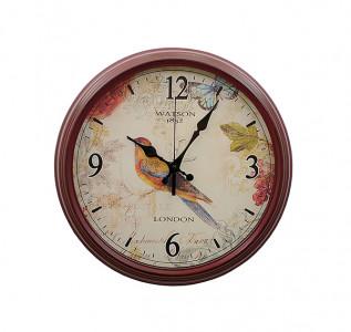 Часы Певчая птичка в коричневом