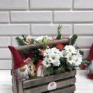 Композиция в ящике двойном Новогодний подарок