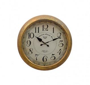 Часы металлические настенные Deep Gold