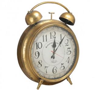 Часы будильник Металлический золотой L