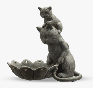 Статуэтка-бонбоньерка Мама-кошка с котенком