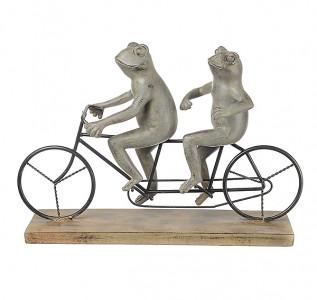 Статуэтка Лягушки весельчаки на велосипеде