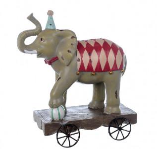 Статуэтка Слоник циркач на колесиках