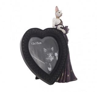 Фоторамка с кошкой Дамское сердце