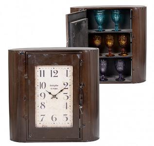 Часы-шкаф металлические коричневые