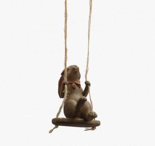 Статуэтка Кролик мечтатель на качелях