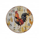 Часы настенные круглые с петушком