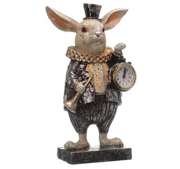 Статуэтка Кролик с часами в цилиндре