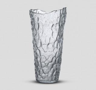 Ваза стеклянная Талый лед большая