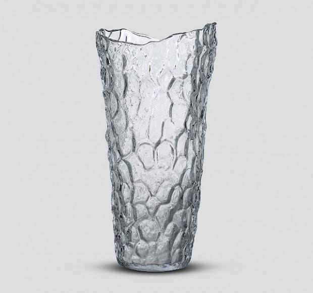 Ваза стеклянная Талый лёд большая