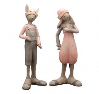 Статуэтка Кролики застенчивая парочка