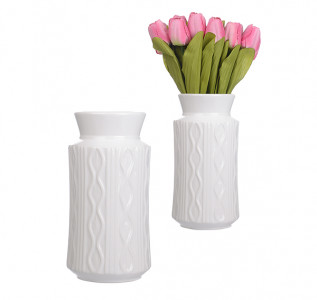 Ваза керамическая Blanc Cream S