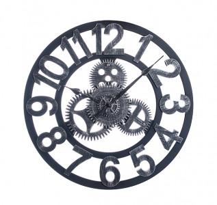 Часы лофт Механизм чёрные