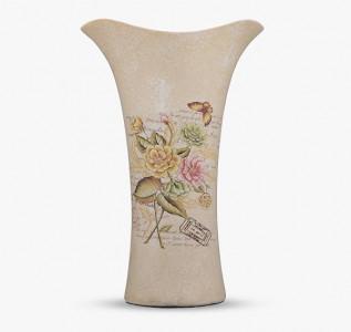 Ваза полиустома Oblique Flowers in Beige большая