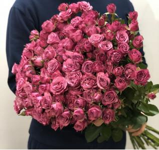 Букет из 45 пионовидных роз