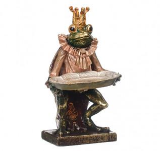 Статуэтка Лягушонок-королевич с подносом