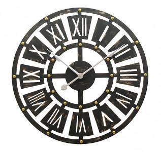 Часы деревянные в стиле лофт